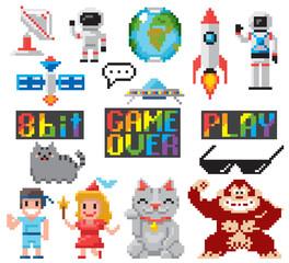 Symbols 8 bits game