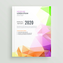 creative colorful geometric company brochure template design