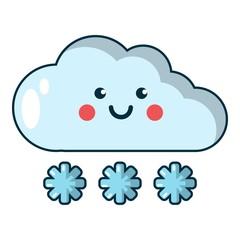 Snow icon, cartoon style