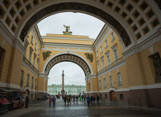 The Palace Square of St. Petersburg. Arch of the General Staff