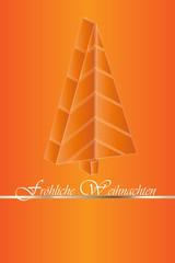 Weihnachten Hintergrund abstrakt orange