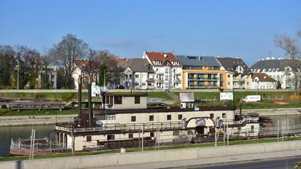 Duna-Raba canal in town Gyor in Hungary