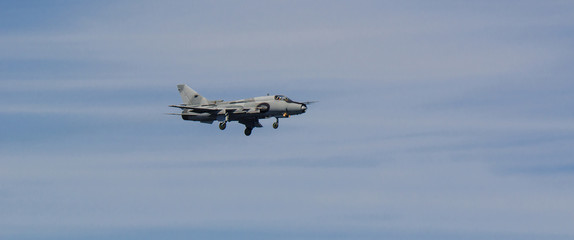 ATTACK AIRCRAFT - Military aircraft in the blue sky
