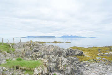 Arisaig looking over to Eigg and Rùm