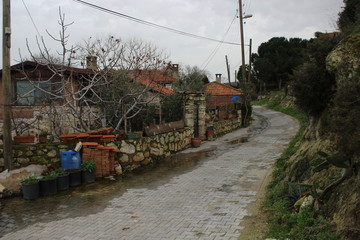 small village road