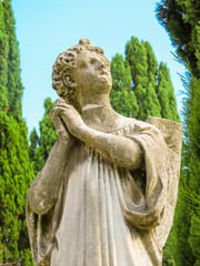 Sculpture of praying angel