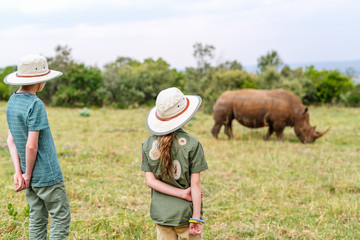 Kids on safari