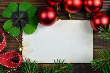 Empty Christmas photo frame