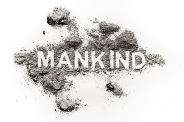 Mankind word as metaphor for violence in history