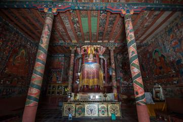 Statue at Basgo Gompa. Leh, Ladakh