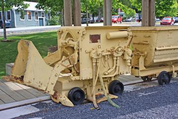 Vintage mine machinery