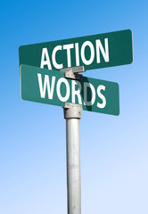action and words sign