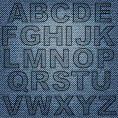 Jeans letters