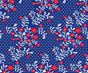 floral pattern on background