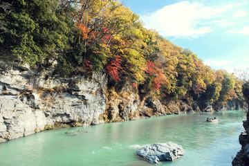 秋の長瀞峡と船下り