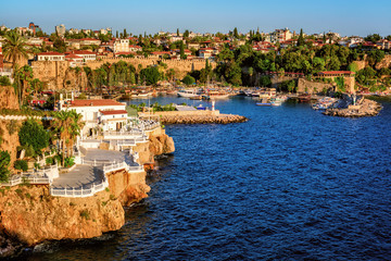Antalya, Turkey, the Kaleici Old Town and harbour