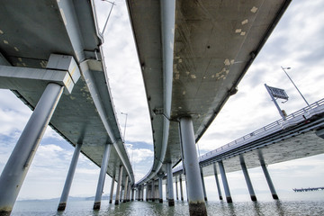 Border Bridge Between Hong Kong and Shenzhen