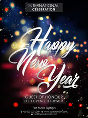 nice and beautiful abstract for Happy New Year or New Year Celebration with nice and creative design illustration.