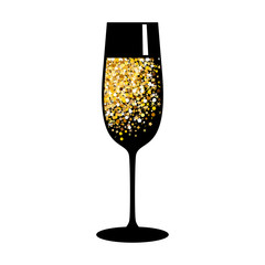 champagne gold black glass