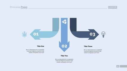 Three Arrow Infographic Diagram Template