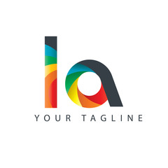 Initial Letter LA Design Logo