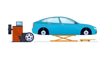 Car repair. Car service. Replacement of tires, wheels, car parts.
