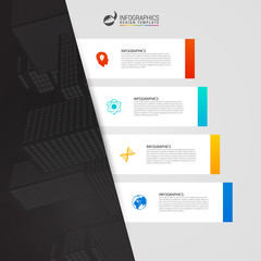 Modern infographic template for business with 4 steps. Vector