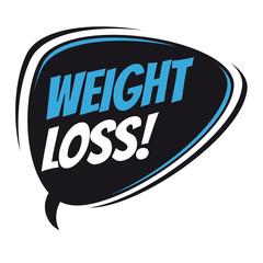 weight loss retro speech bubble