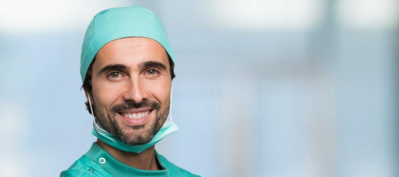 Confident surgeon portrait