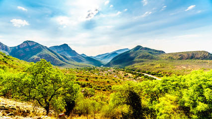 Door stickers Elephant View of the Valley of the Elephant with the village of Twenyane along the Olifant River in Mpumalanga Province in northern South Africa