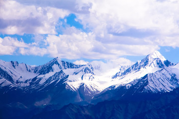 Himalaya mountains valley at ladakh, india, asia
