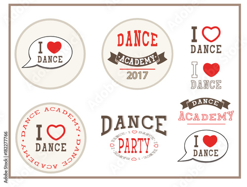 i love dance dance academy dance party elements sign stickers