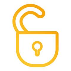 open padlock icon image