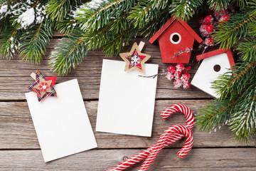Christmas blank photo frames, birdhouse decor