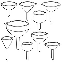 vector set of funnels