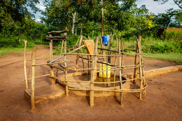 A water well in Uganda A water well is an excavation or structure created in the ground by digging, driving, boring, or drilling to access groundwater in underground aquifers.