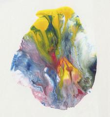 Macchia multicolore in acrilico liquido mescolato