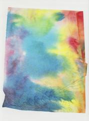 Foglio di carta bagnato colorato arcobaleno