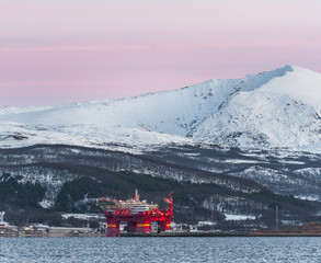North sea in Norway,Tromso
