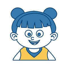 Cute girl face cartoon