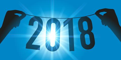 2018 - carte de vœux - vœux - présentation - entreprise - année - originale - créative