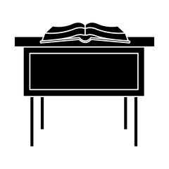 Book open on desk