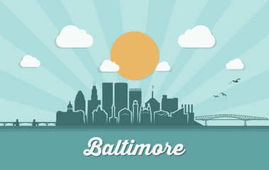 Baltimore skyline - Maryland