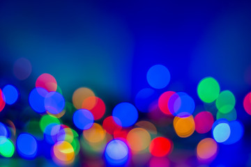 Abstract Bokeh blurred colorful background