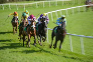 horse race motion blur Galloping  speeding effect
