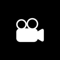Vector flat icon video camera