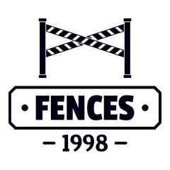 Fence police logo, simple black style