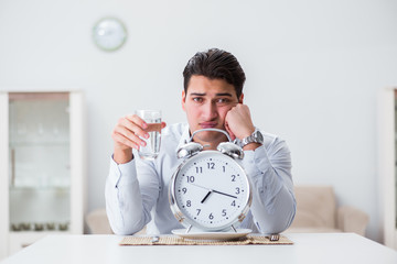 Concept of slow service in restaurants