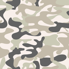 Seamless camouflage pattern. Khaki texture, vector illustration.