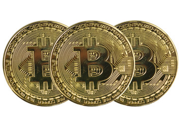 golden bitcoin coin. cryptocurrency. New virtual money.